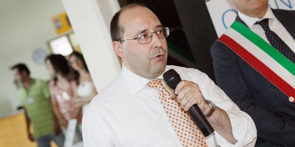 Ing. Matteo Volpe, directeur général d'IGV Group, pendant le discours d'ouverture de la Journée portes ouvertes IGV