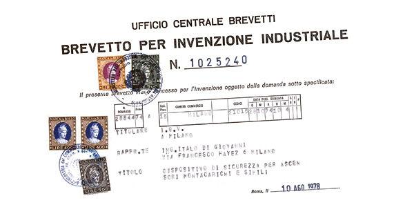 Un des premiers brevets d'IGV